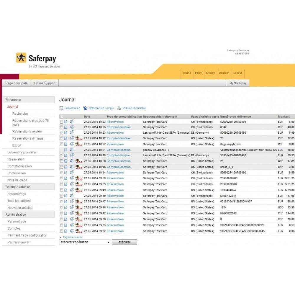 module - Zahlung per Kreditkarte oder Wallet - Saferpay / Six Payment Services - 10