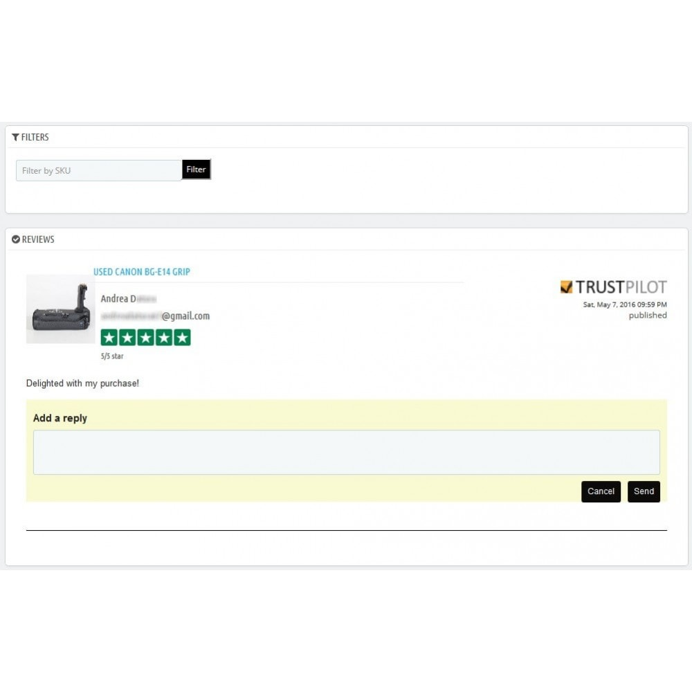 module - Opinie klientów - Trustpilot Reviews - 2