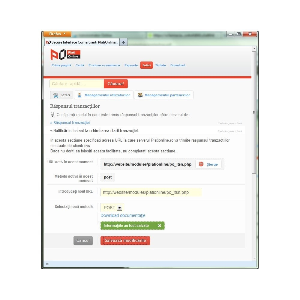 module - Płatność kartą lub Płatność Wallet - PlatiOnline.ro - Plati cu cardul - 3
