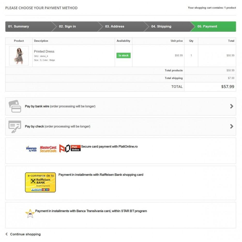 module - Creditcardbetaling of Walletbetaling - PlatiOnline.ro - Plati cu cardul - 6