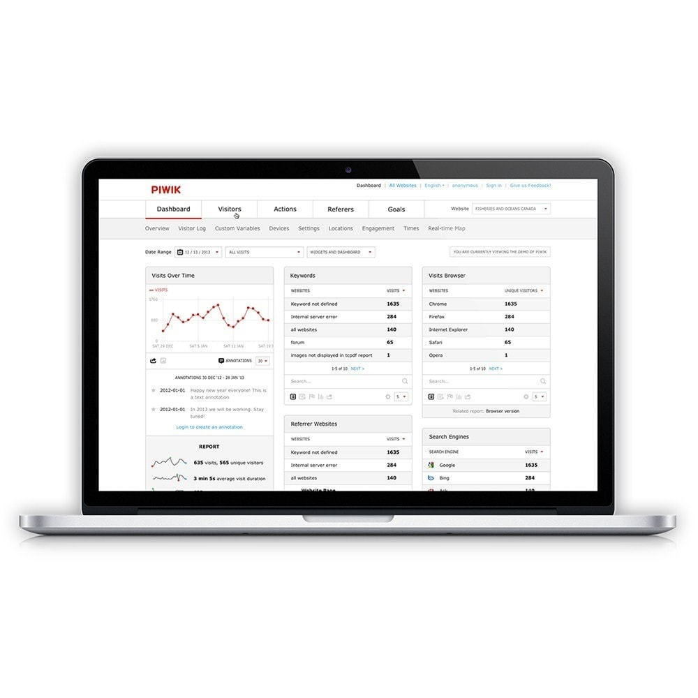 module - Analytics & Statistiche - Piwik - Free Web Analytics - 5