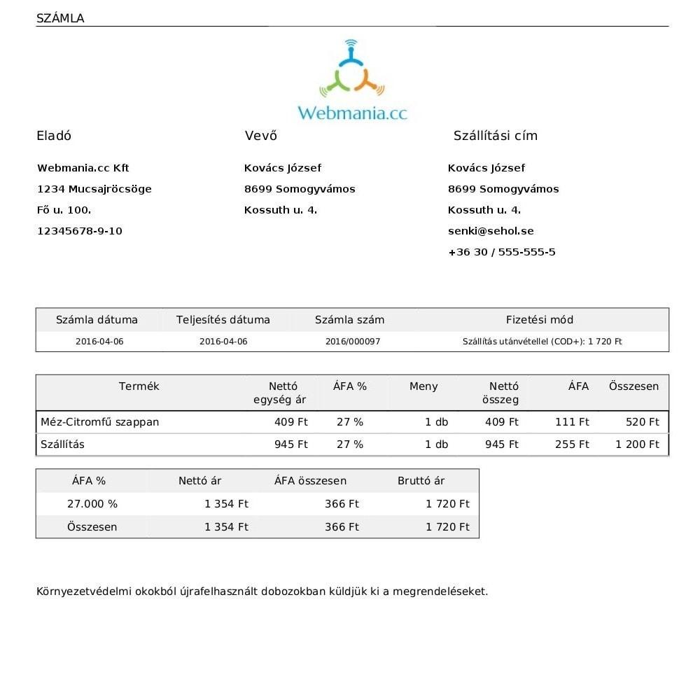 module - Księgowość & Fakturowania - Hungarian Invoicing - 4