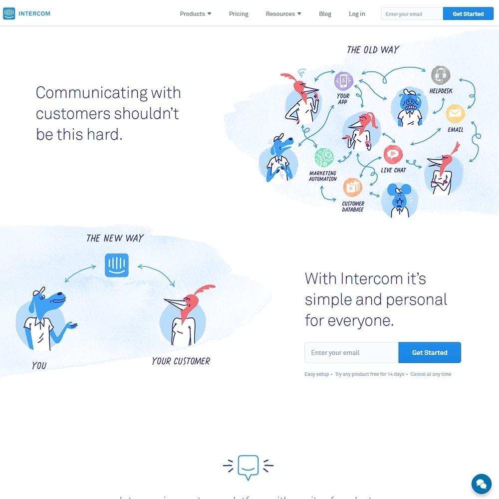 module - Ondersteuning & Online chat - Intercom.io - Customer Communication Platform - 2