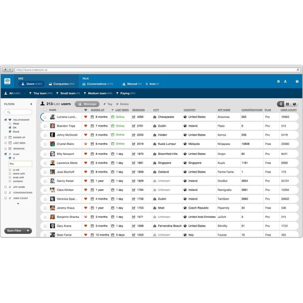 module - Ondersteuning & Online chat - Intercom.io - Customer Communication Platform - 3