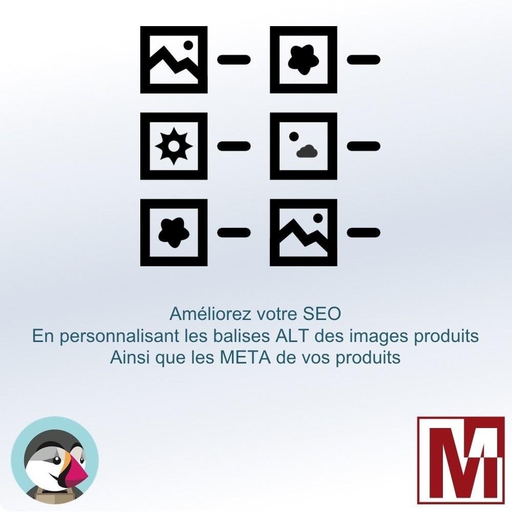 module - SEO (référencement naturel) - Gérez la balise ALT de vos images et les META produits - 1