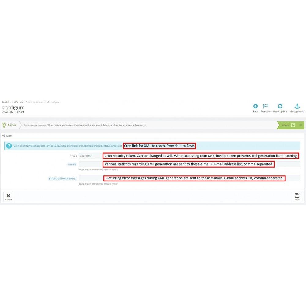 module - Marketplaces - Zave XML export - 2