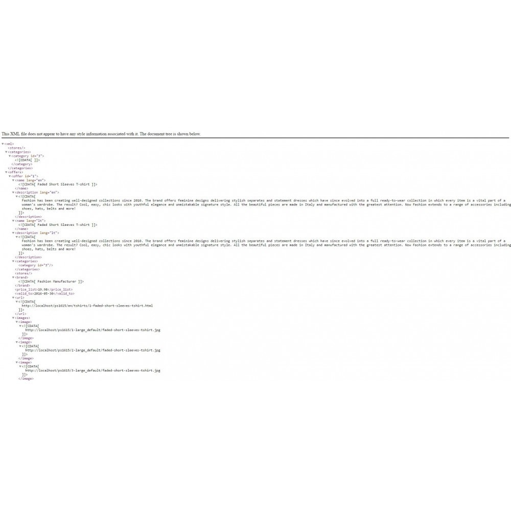 module - Marketplaces - Zave XML export - 3