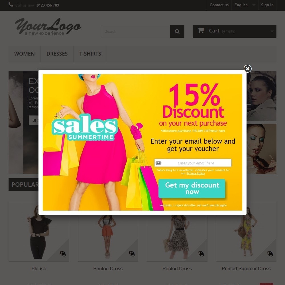 module - Pop-up - Email Leads Collector Popup with Discount Coupon - 5