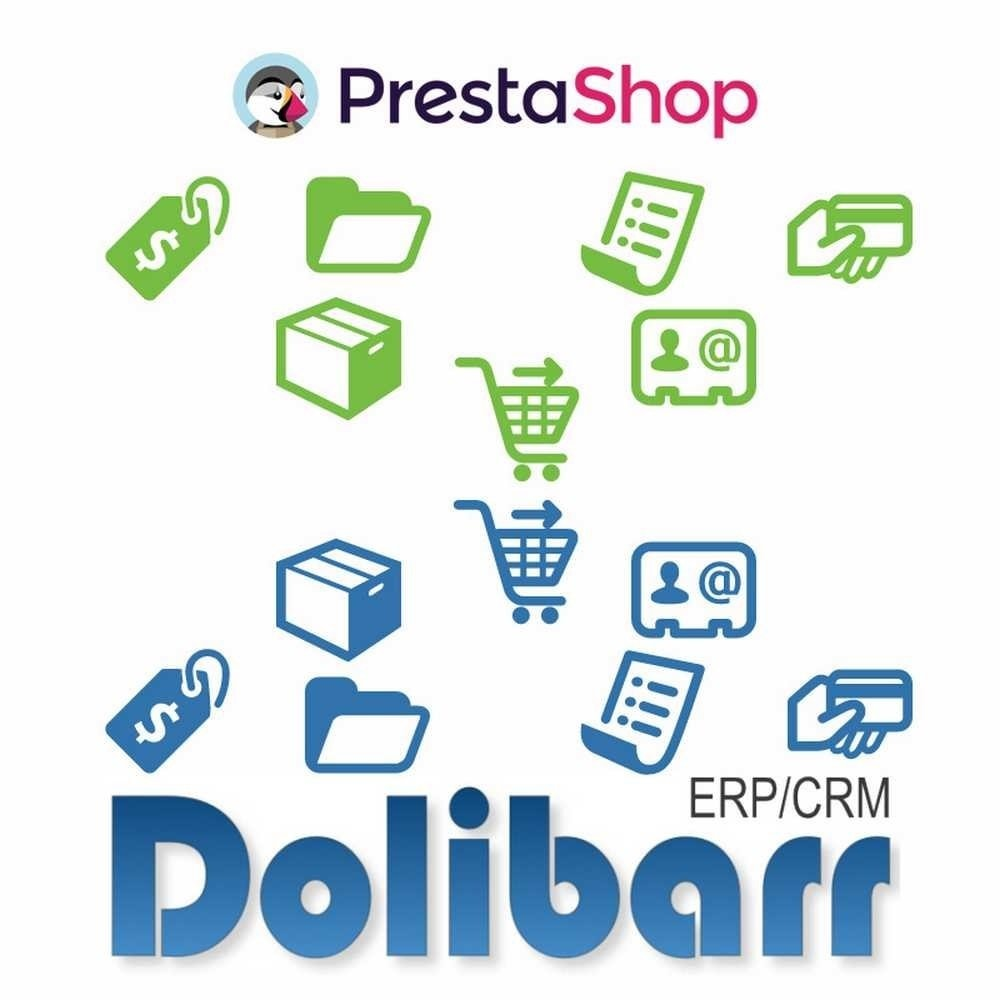 module - Third-party Data Integration (CRM, ERP...) - Prestashop synchronization to Dolibarr ERP/CRM - 1