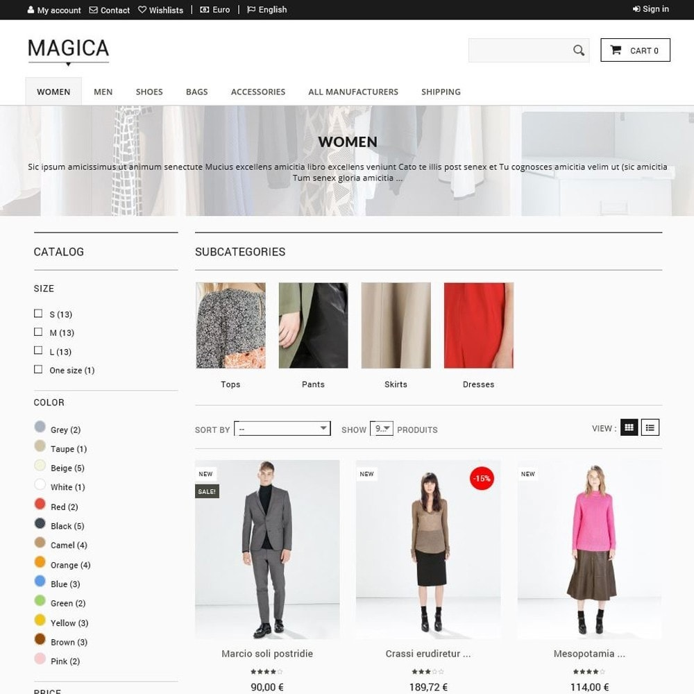 theme - Mode & Chaussures - Magica - 2