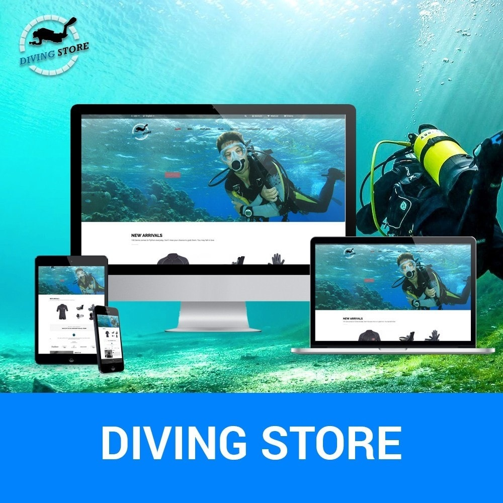 theme - Sports, Activities & Travel - Ap Diving Store - 1