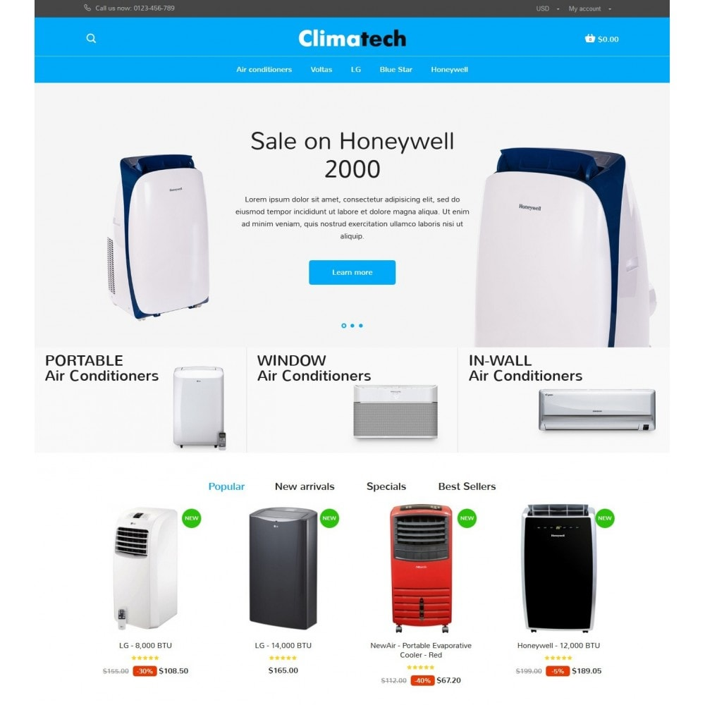 theme - Elektronika & High Tech - Climatech Store - 2