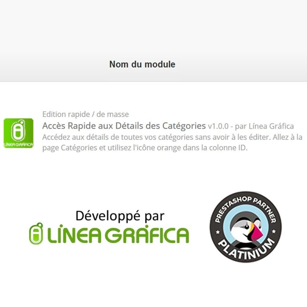module - Edition rapide & Edition de masse - Aperçu / Accès Rapide aux Détails des Catégories - 4