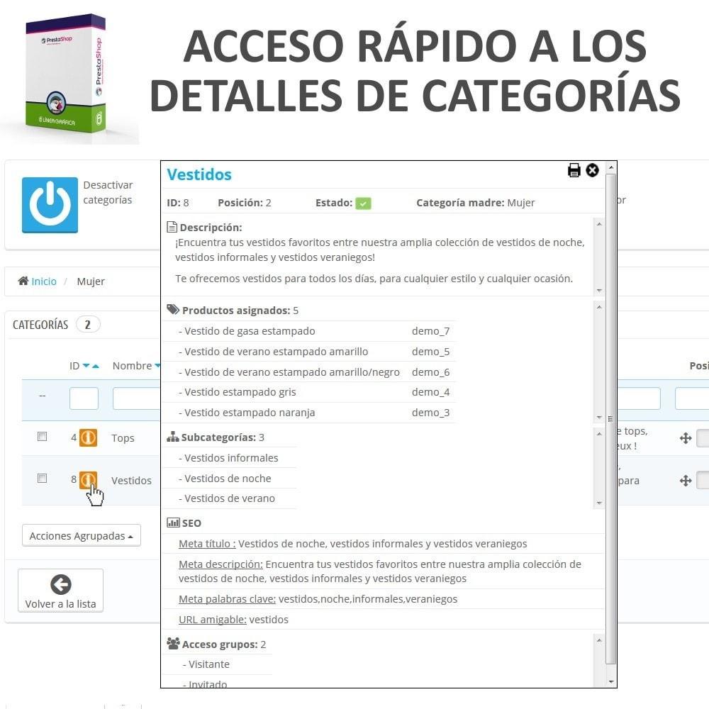 module - Edición Rápida y Masiva - Acceso Rápido a los Detalles de Categorías - 1
