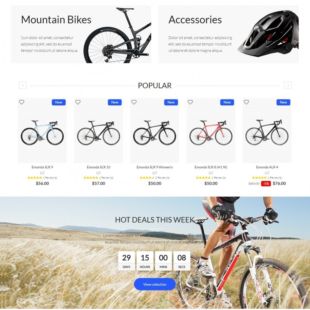 theme - Sport, Rozrywka & Podróże - Bike Rider Shop - 3