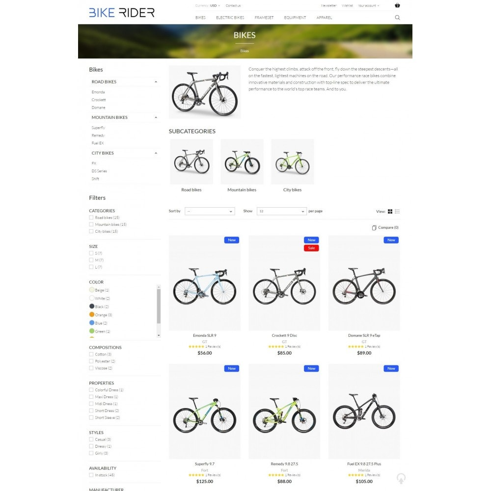 theme - Спорт и Путешествия - Bike Rider Shop - 6