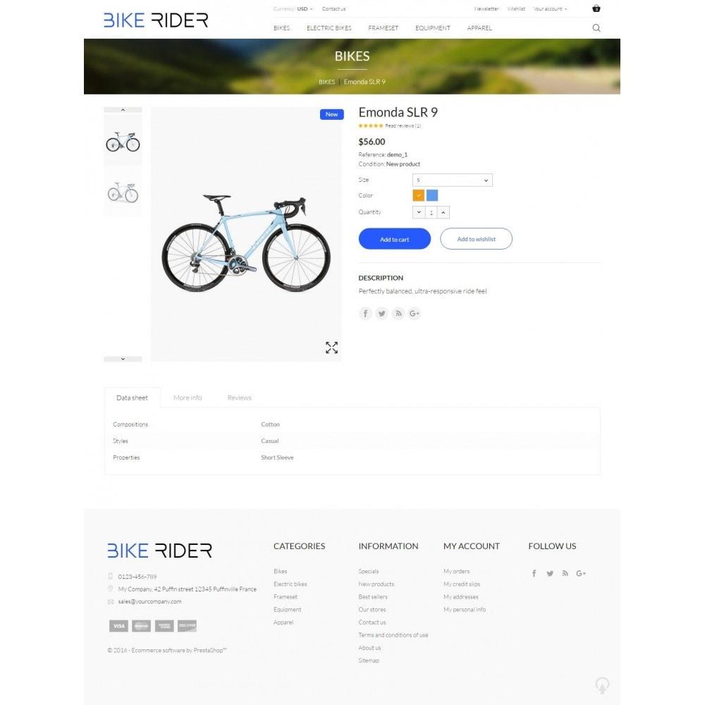 theme - Sport, Rozrywka & Podróże - Bike Rider Shop - 8
