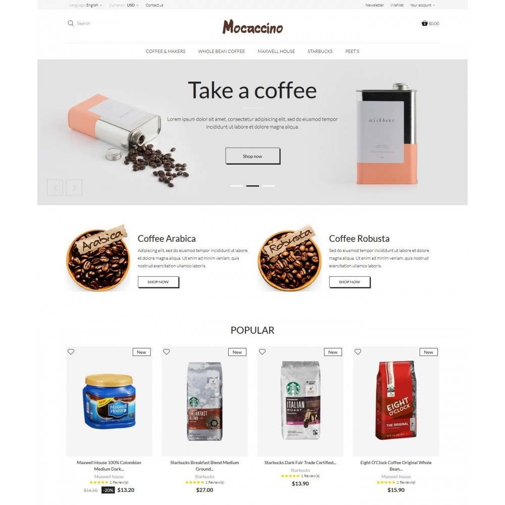 theme - Boissons & Tabac - Moccacino Coffe Store - 2