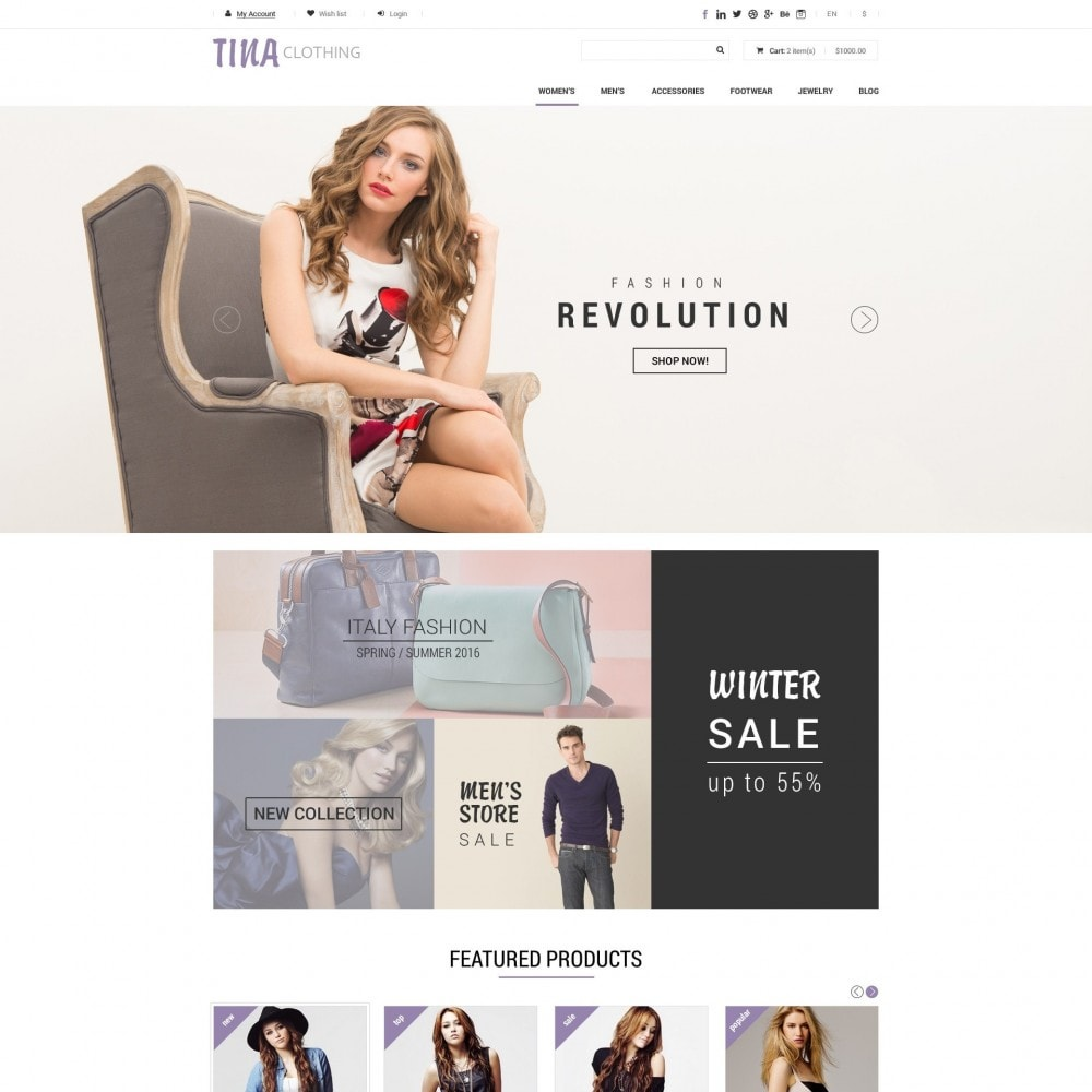 theme - Fashion & Shoes - Tina - Clothing Shop - 1