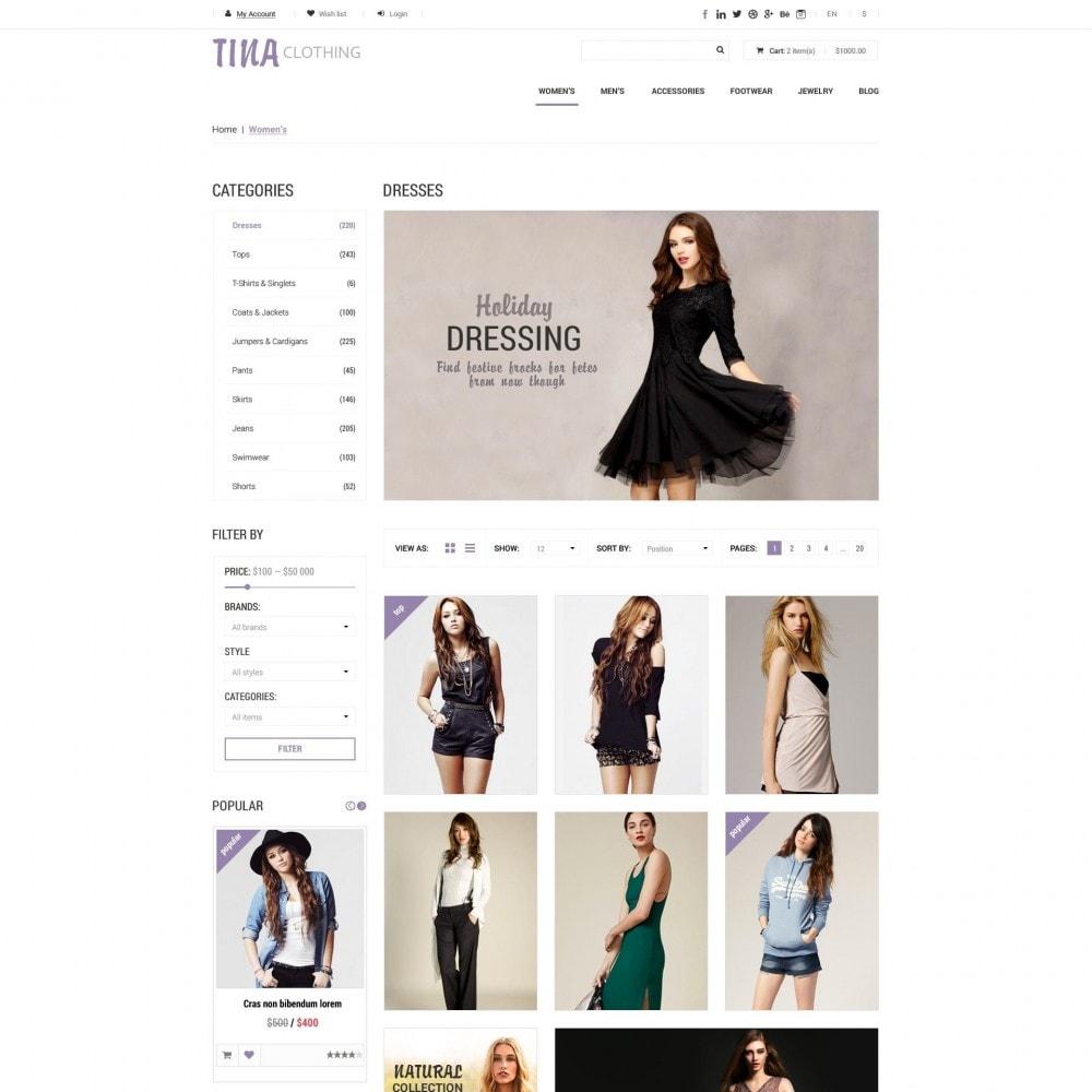 theme - Mode & Schoenen - Tina - Kleding Winkel - 3