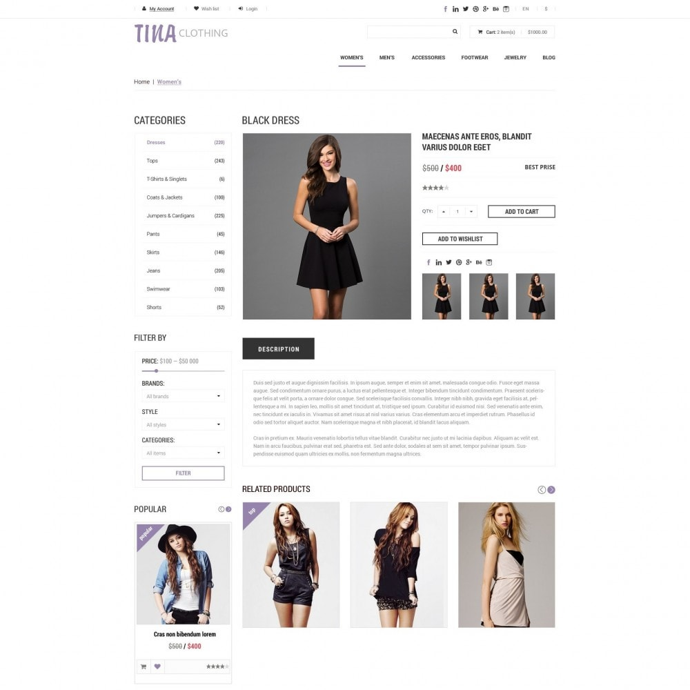 theme - Moda & Calçados - Tina - Loja de Roupas - 4