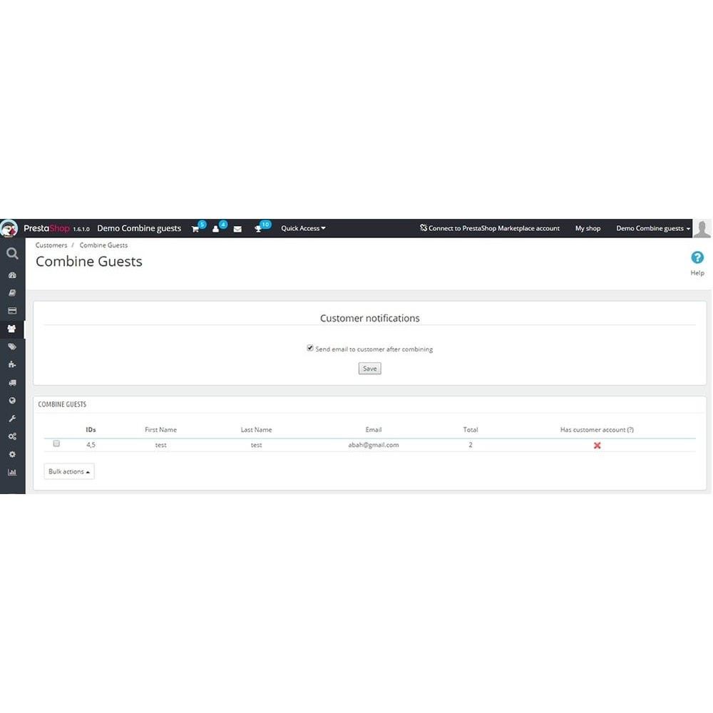 module - Zarządzanie klientami - Combine guests - 2