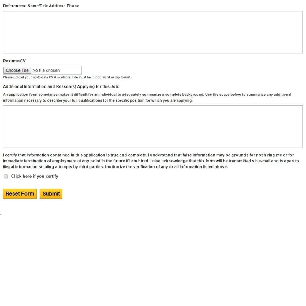 module - Formulário de contato & Pesquisas - Job (Employment) Application Form - 9