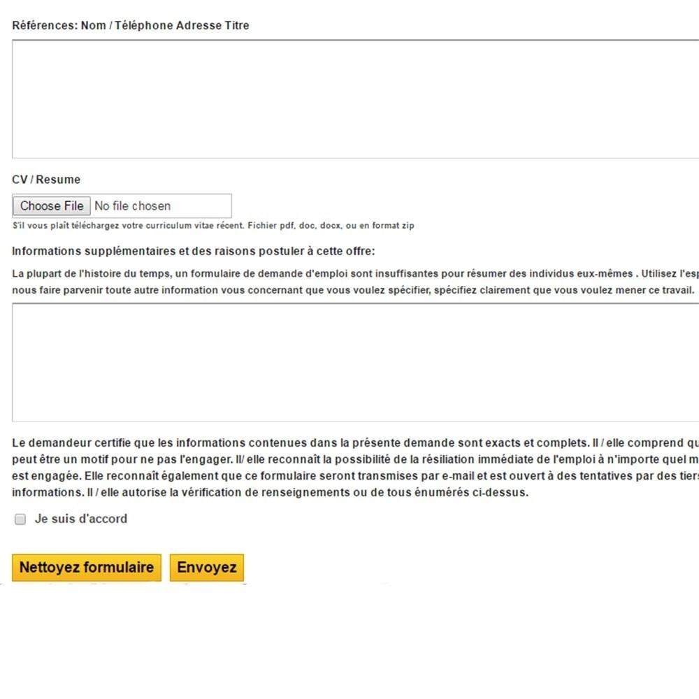 module - Formulaires de Contact & Sondages - Postes et demandes d'emploi - 7