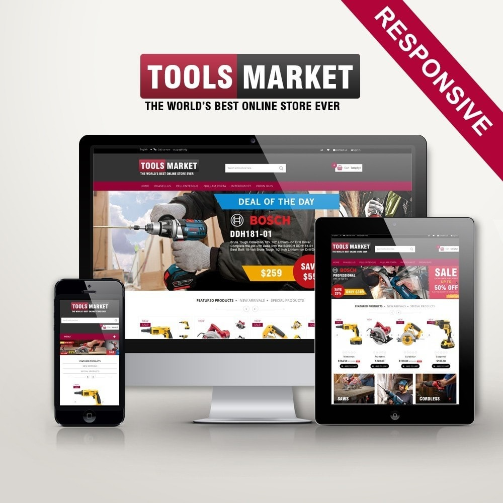 theme - Дом и сад - Home Tools Market DD001 - 1