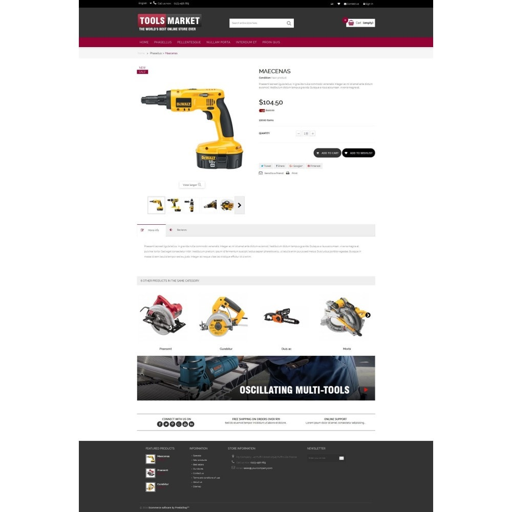 theme - Дом и сад - Home Tools Market DD001 - 4
