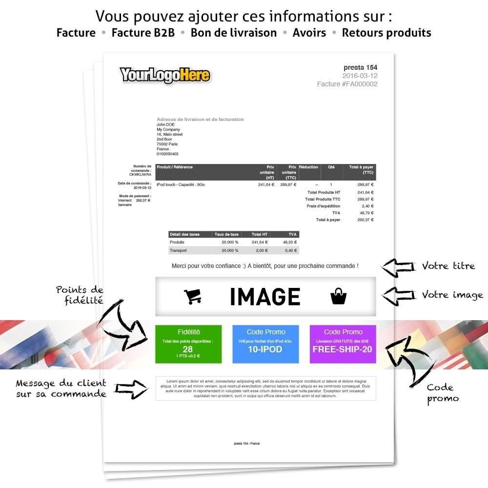 module - Comptabilité & Facturation - Personnaliser vos PDF : informations et code promo - 2