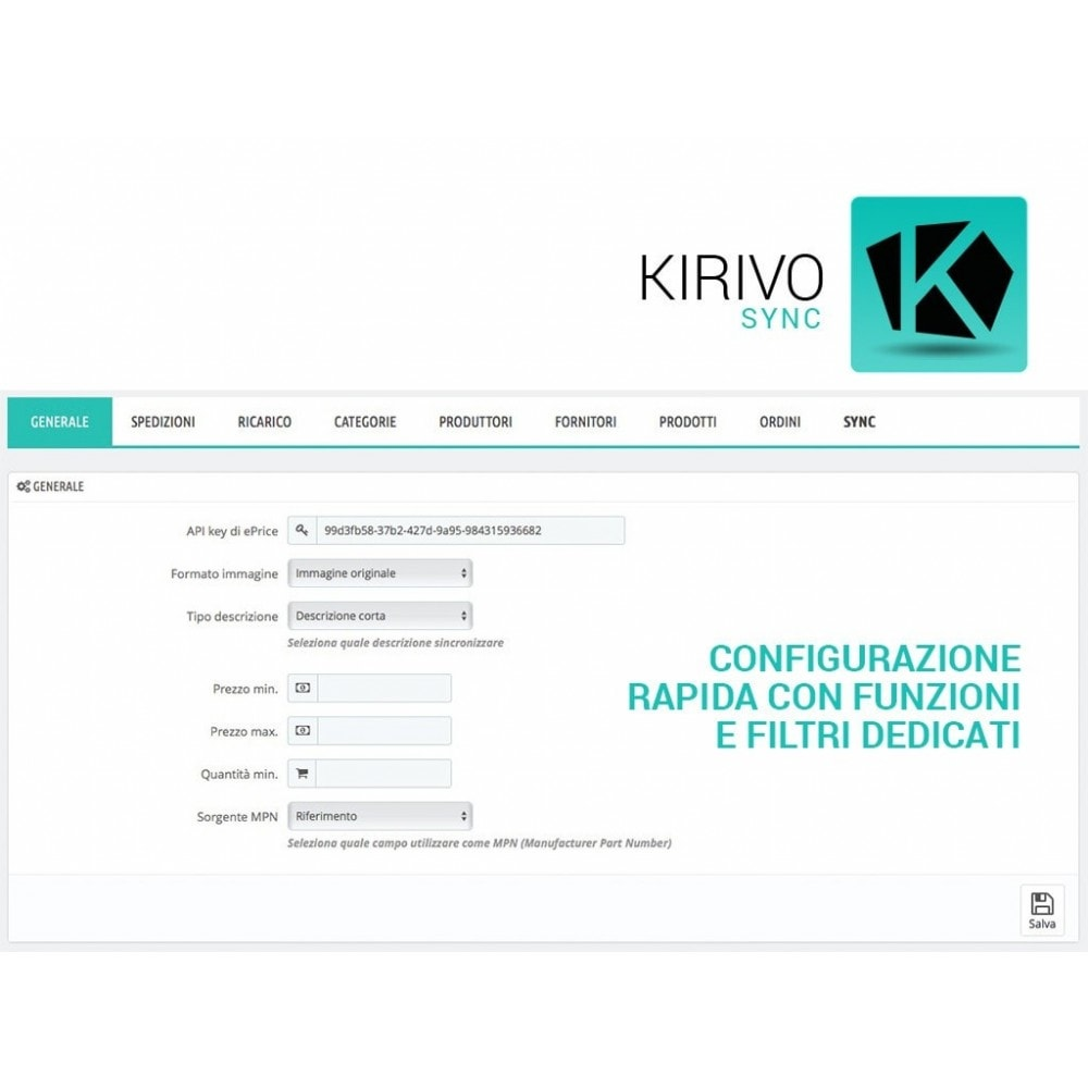 module - Marketplace - Sincronizza PrestaShop con il marketplace di Kirivo - 2
