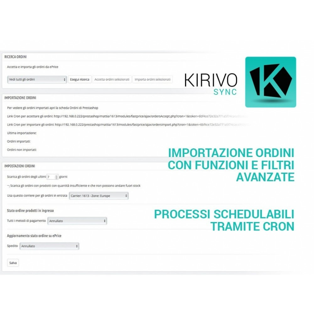 module - Marketplace - Sincronizza PrestaShop con il marketplace di Kirivo - 4