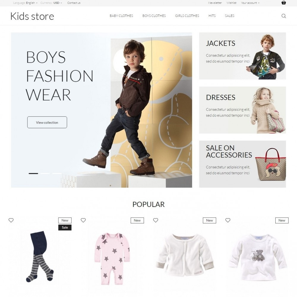theme - Mode & Chaussures - Kids store - 2