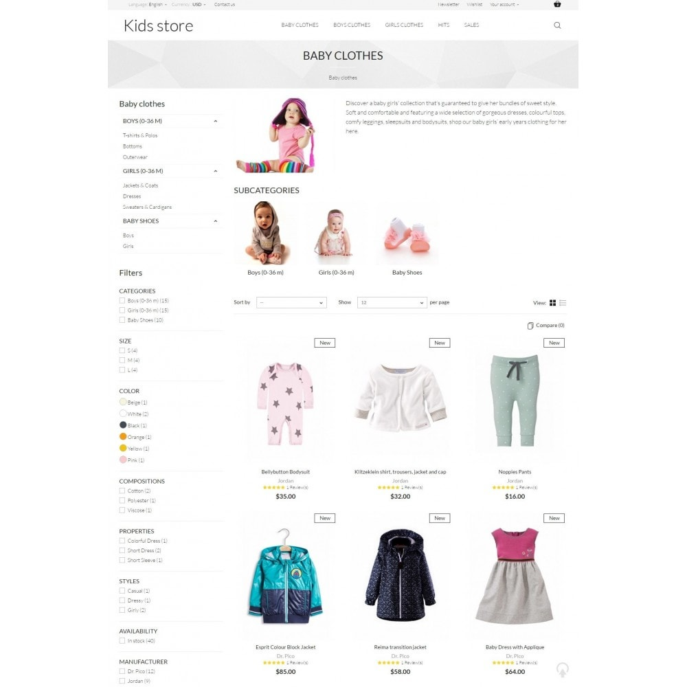 theme - Mode & Chaussures - Kids store - 5