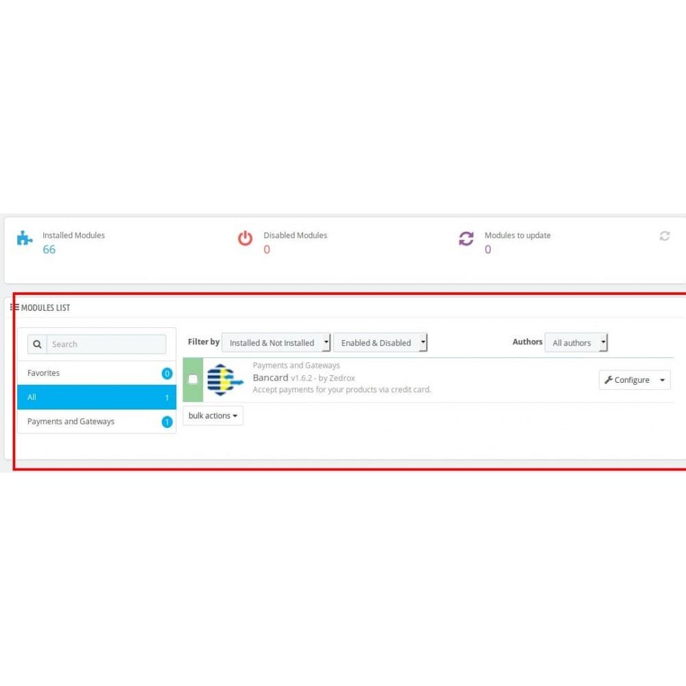 module - Płatność kartą lub Płatność Wallet - Bancard Payment Gateway - 1