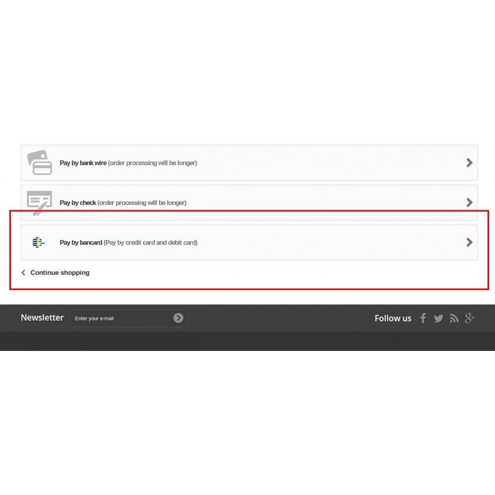 module - Płatność kartą lub Płatność Wallet - Bancard Payment Gateway - 3