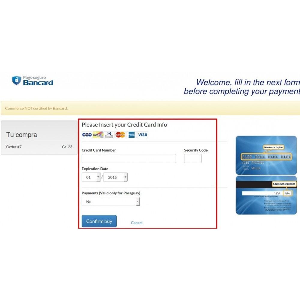 module - Płatność kartą lub Płatność Wallet - Bancard Payment Gateway - 5