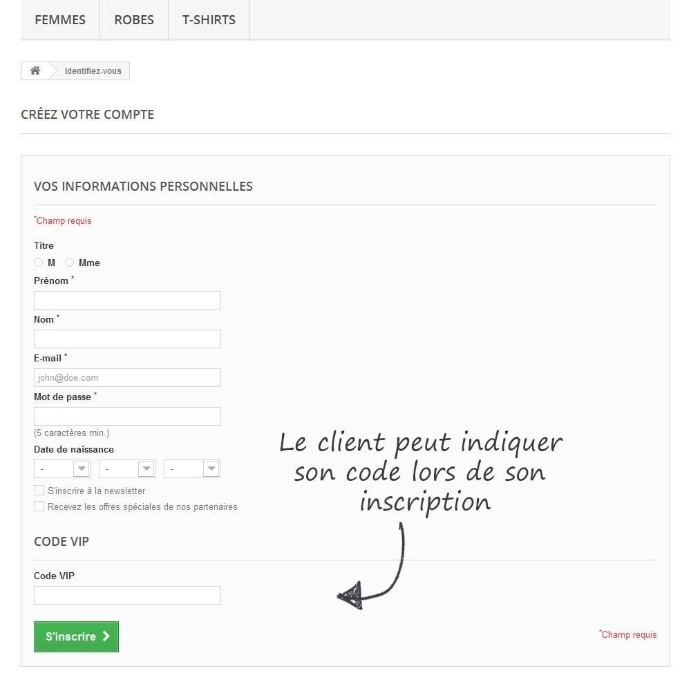 module - Fidélisation & Parrainage - Gestion de codes VIP - 3