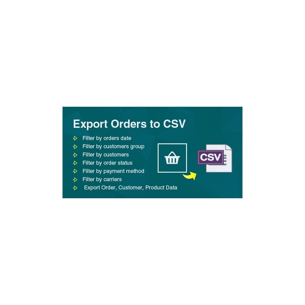 module - Import & Eksport danych (csv, pdf...) - Filter & Export Bulk Orders to CSV/Exel File Pro - 1