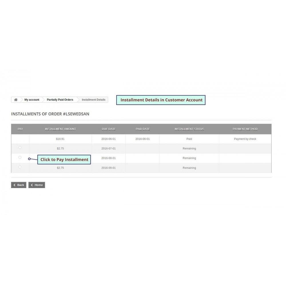 module - Altri Metodi di Pagamento - Partial Payment - Layaway & Installment Payment - 11