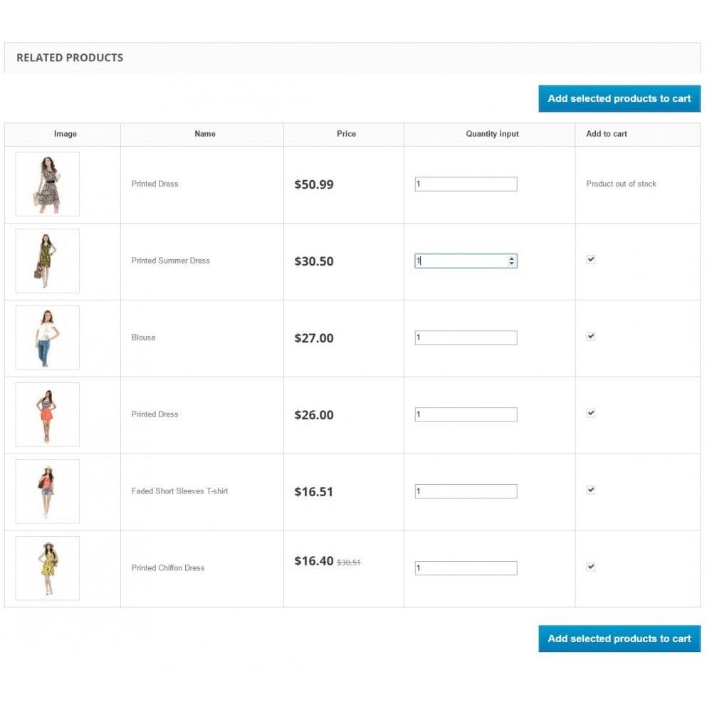 module - Ventas cruzadas y Packs de productos - Related Products Premium - upsell, carousel, linking - 2