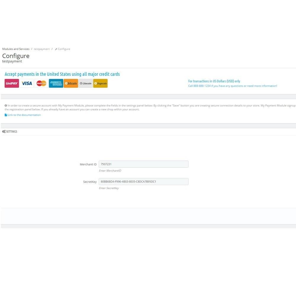 module - Paiement par Carte ou Wallet - UniPAY Checkout - 2