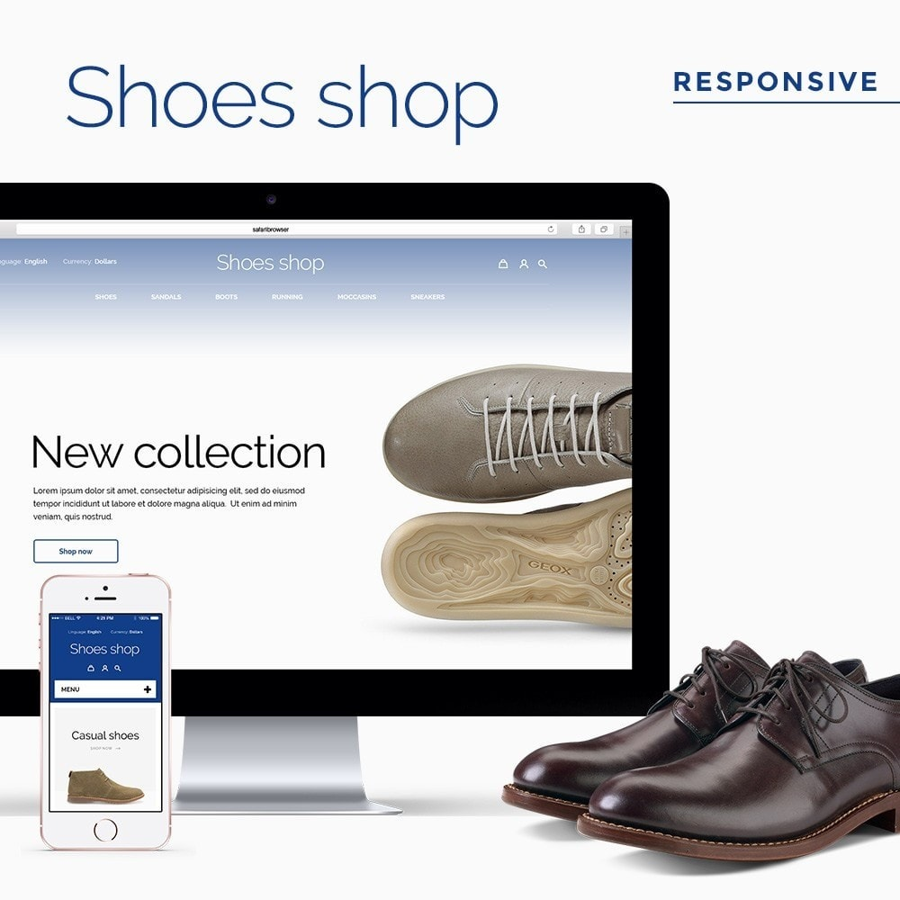 theme - Мода и обувь - Shoes shop - 1