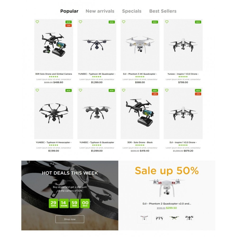 theme - Elettronica & High Tech - RCToys Quadcopters Store - 3