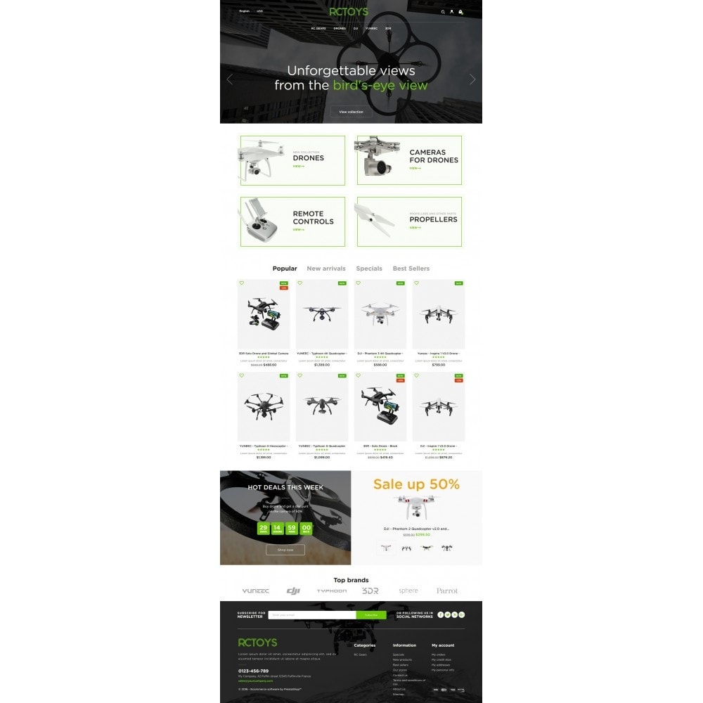 theme - Elektronik & High Tech - RCToys Quadcopters Store - 6