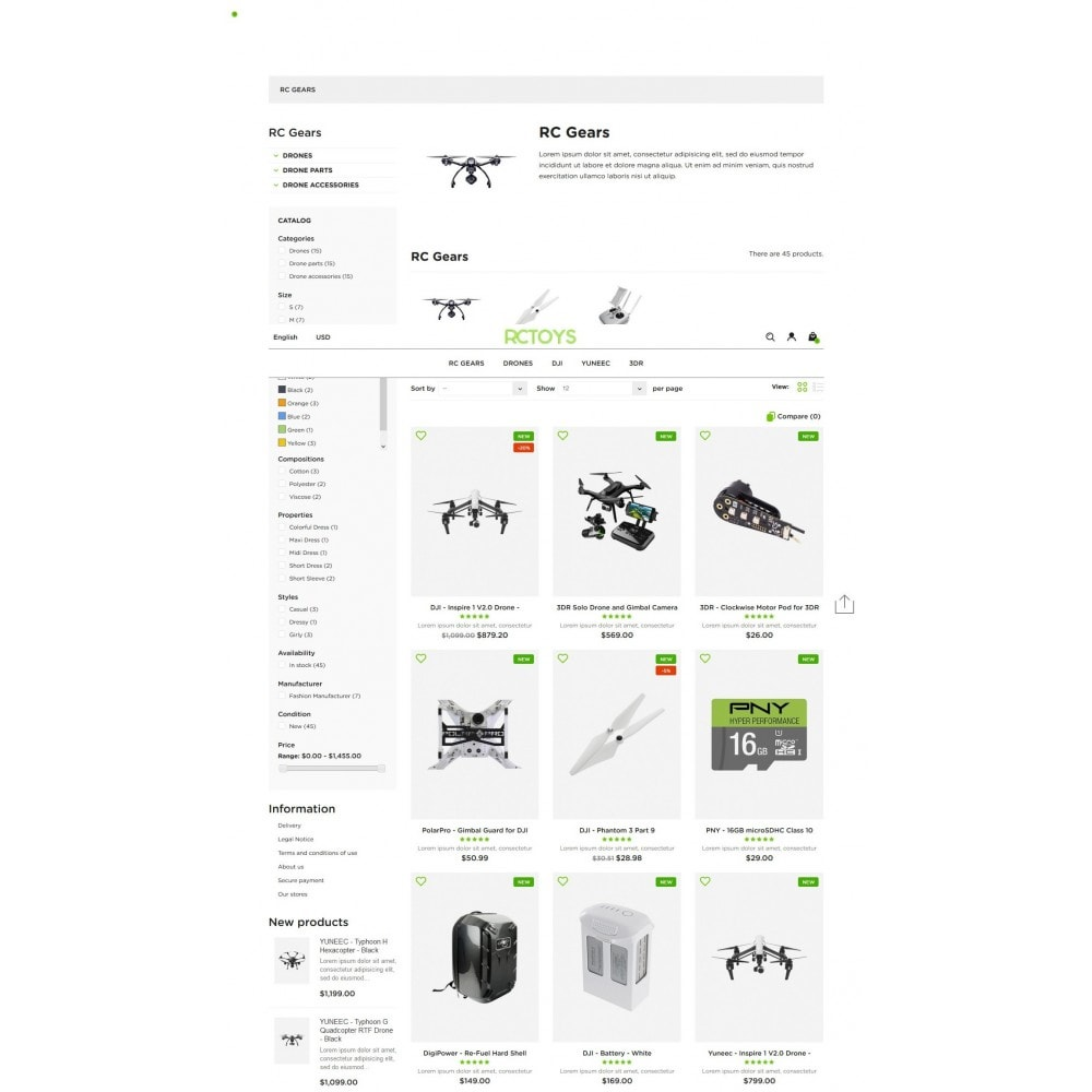 theme - Elektronik & High Tech - RCToys Quadcopters Store - 7