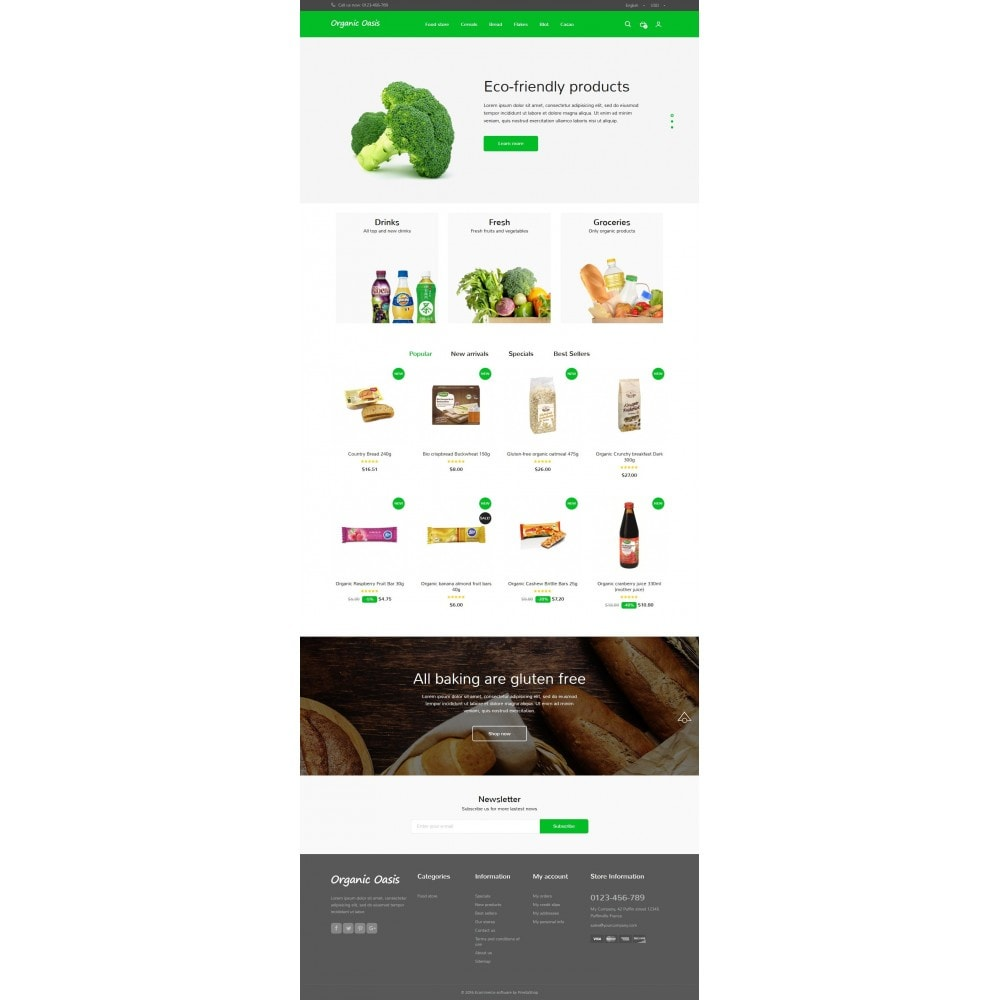 theme - Food & Restaurant - Organic Oasis Store - 7