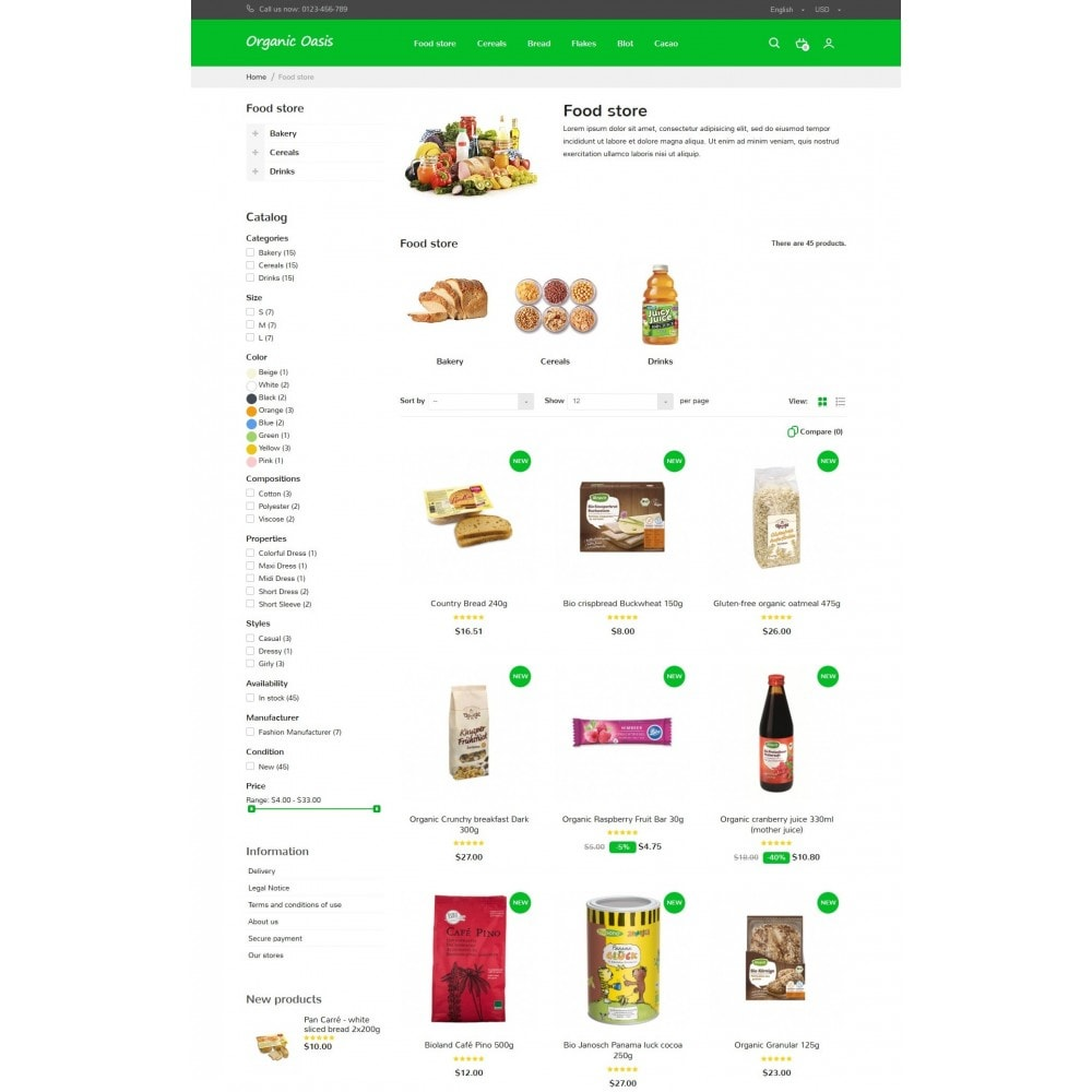 theme - Food & Restaurant - Organic Oasis Store - 8