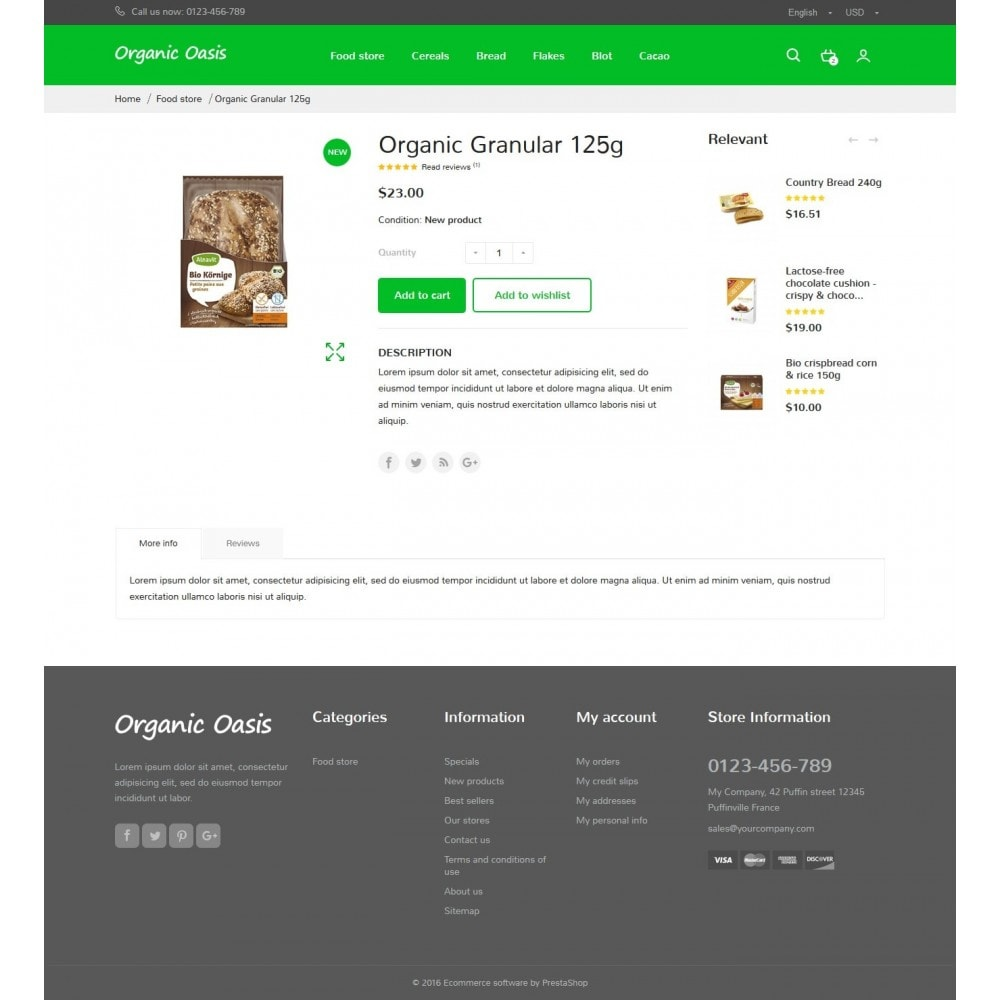 theme - Gastronomía y Restauración - Organic Oasis Store - 10